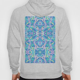 Seaweed with Bubbles Abstract Art Multi Fractal Hoody