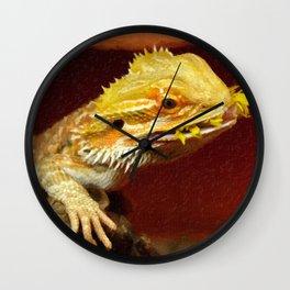 bearded dracon 2 Wall Clock