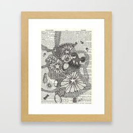 Globby Blobs Framed Art Print