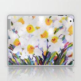 White Daffodil Meadow Laptop & iPad Skin