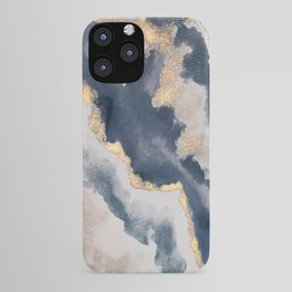 All that Shimmers – Gold + Navy Geode iPhone Case