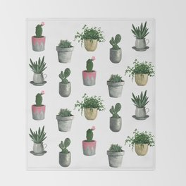 House Plants Throw Blanket