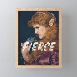 Fierce - Feminist Framed Mini Art Print
