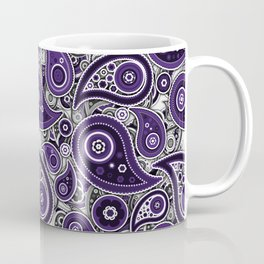 Marine Green Paisley Pattern Design Coffee Mug