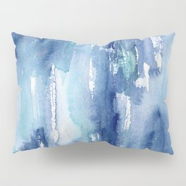 Blue vibes #2 || watercolor Pillow Sham