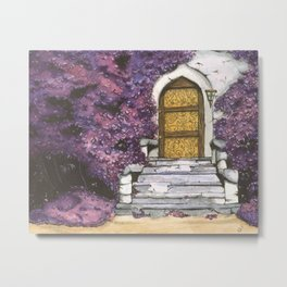 Purple door Metal Print