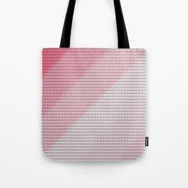 Gradient Pink Legos Tote Bag