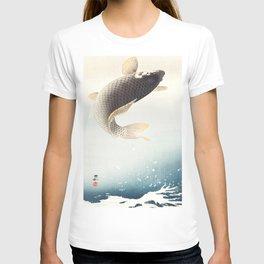A leaping Carp - Japanese vintage woodblock print art T-shirt