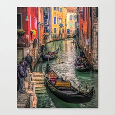 Gondolas at Sunset Canvas Print