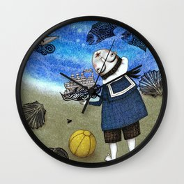 Day on the Beach Wall Clock