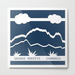 Grands Montets Metal Print
