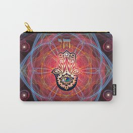Hamsa - CHAI - Sacred Geometry Carry-All Pouch