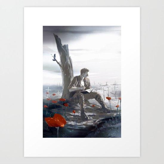 Flanders Fields Art Print
