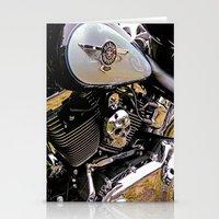 motorbike Stationery Cards featuring  Motorbike  by Scenic View Photography