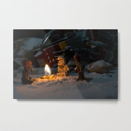 little blocks campfire Metal Print