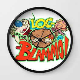90s Cartoon Wall Clock
