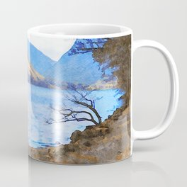 Little Tree at Buttermere, Lake District UK Watercolour Painting Coffee Mug