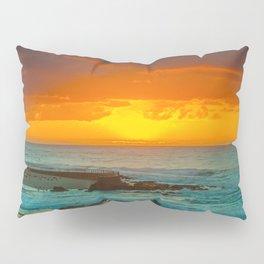 Sunset over childrens pool Pillow Sham