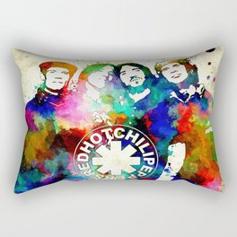 The Chili Peppers Grunge Rectangular Pillow