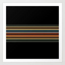Vibrant Bold Stripes Art Print