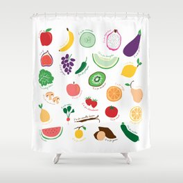 ABC Fruit and Vege Shower Curtain