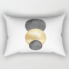 Scandi gold circle Rectangular Pillow