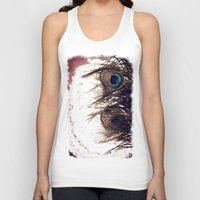 peacock feather Tank Tops featuring Peacock Feather by KunstFabrik_StaticMovement Manu Jobst