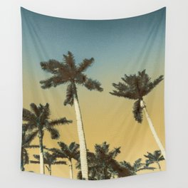 Palms and clear skies Wall Tapestry