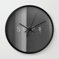 nope Wall Clocks featuring Nope by Jane Lacey Smith