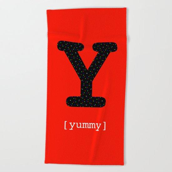 #Y [yummy] Beach Towel