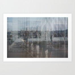 Paris reflex Art Print