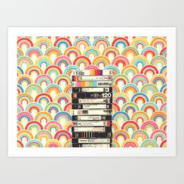 VHS & Rainbows Art Print