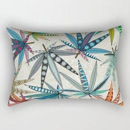boho weed light Rectangular Pillow
