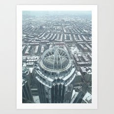 Aerial Boston Art Print