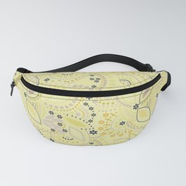 Placer dots , yellow Fanny Pack