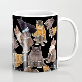 Tough Cats on Black Coffee Mug