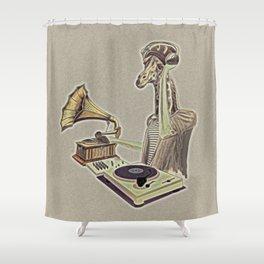 Retro DJ Shower Curtain