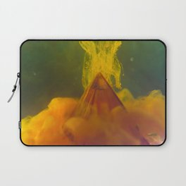 Pyramid with Orange Clouds Laptop Sleeve