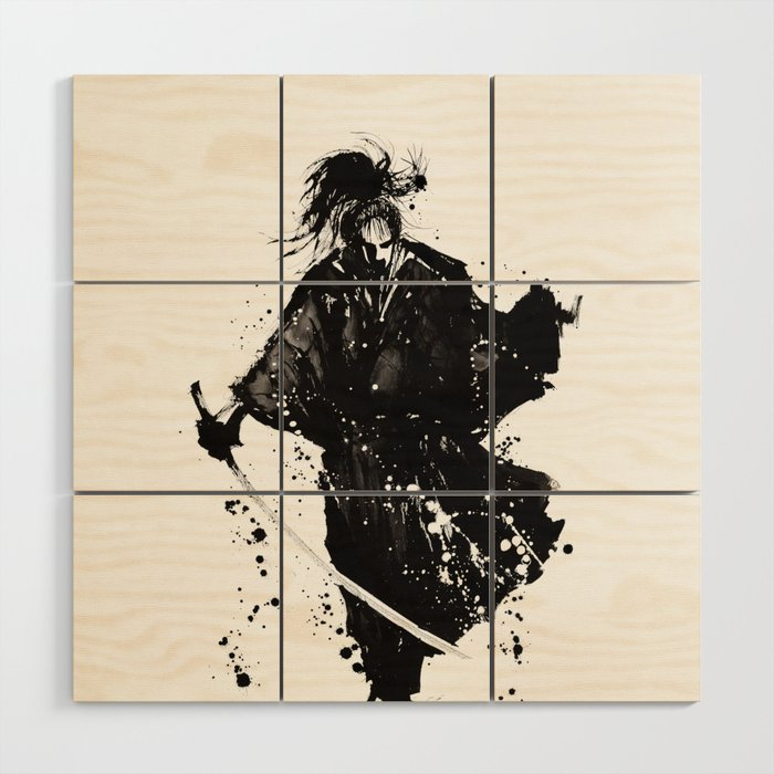 Samurai ronin Wood Wall Art by imagenaction | Society6