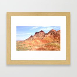mineral mountain photography Framed Art Print