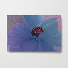 Afterglow, Vibrant, colorful poppy floral art Metal Print