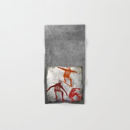 Skateboard Petroglyph Hand & Bath Towel