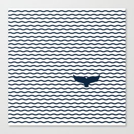 Whale of a Tail Canvas Print