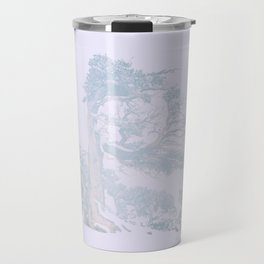 Ancient Tree in wind, snow, and fog on Windy Ridge, Colorado Travel Mug