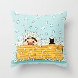 Bubble Time Throw Pillow