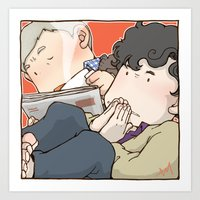 221b Art Prints featuring 221B by Negative Dragon