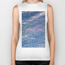 I love you,love,sky,cloud,girl, romantic,romantism,women,heart,sweet Biker Tank