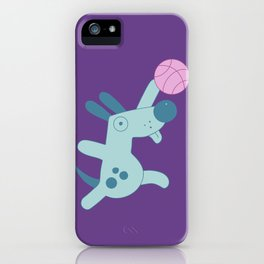 Puppy playing basketball iPhone Case