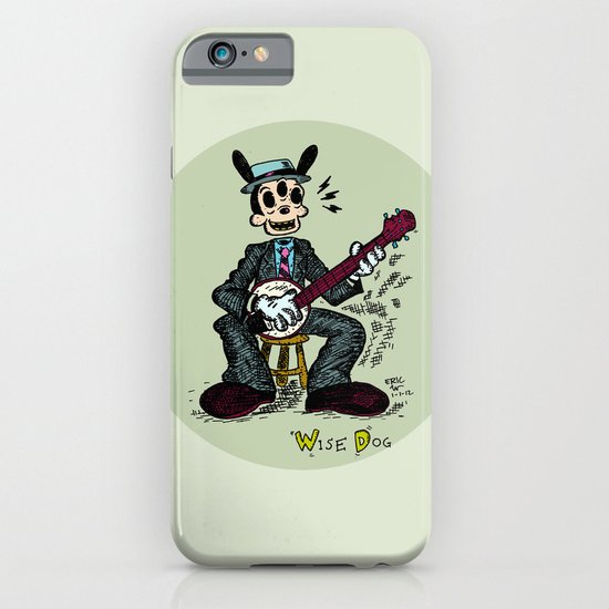 Wise Dog and his Banjo iPhone & iPod Case