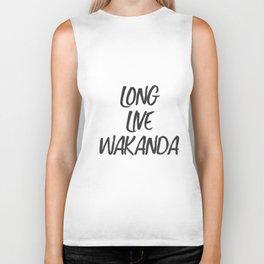 Long Live Wakanda Biker Tank